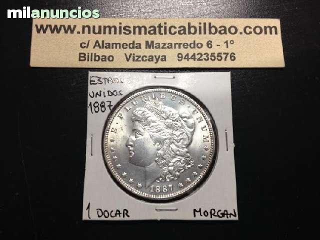 ESTADOS UNIDOS 1 DOLAR 1887 PLATA MORGAN