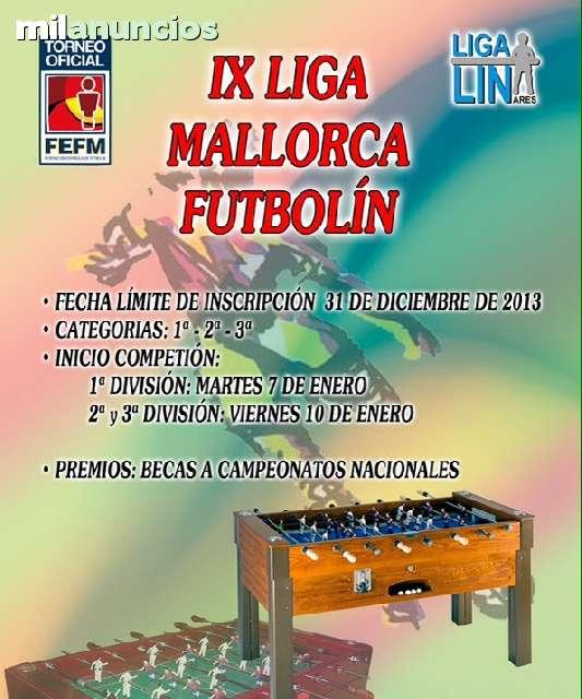 FUTBOLIN EN MALLORCA Y BILLARES