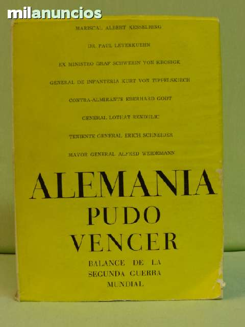 ALEMANIA PUDO VENCER. VV. AA