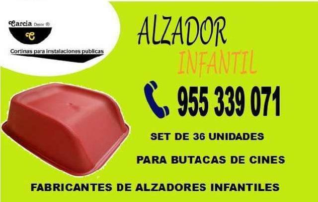 ALZADORES INFANTILES PARA BUTACAS CINE