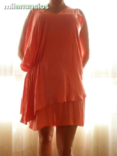 Vestido Color Salmon Talla L