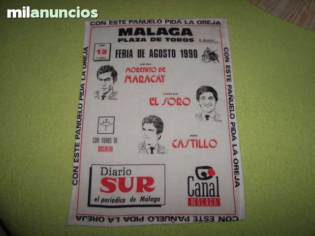 LOTE DE CARTELES DE TOROS DE TELA - foto 6