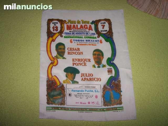 LOTE DE CARTELES DE TOROS DE TELA - foto 7