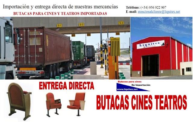 IMPORTACIÓN DE BUTACAS DE CINE Y TEATRO
