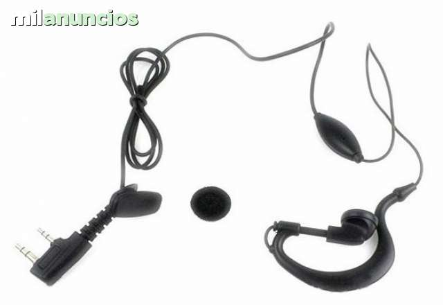 Festnight Auricular con Auricular Walkie Talkie con micr/ófono PTT para Radio bidireccional Motorola Walkie Talkie 2 Pin M Plug