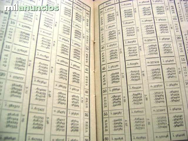 TABLAS DE LOS LOGARITMOS VULGARES 1958 T - foto 2