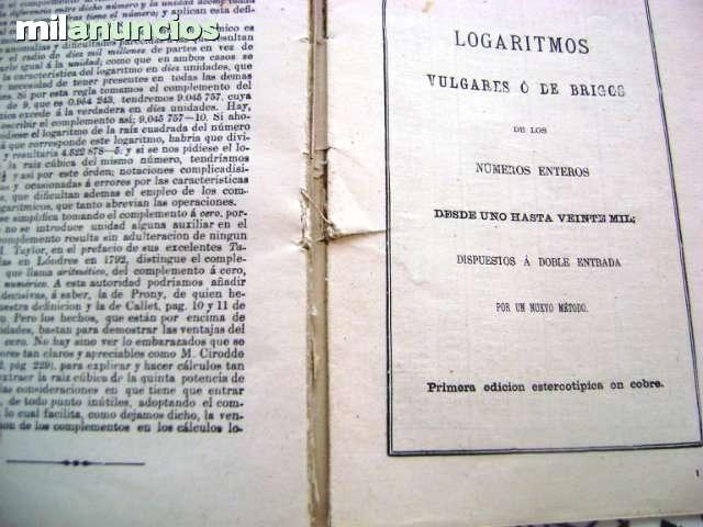 TABLAS DE LOS LOGARITMOS VULGARES 1958 T - foto 3