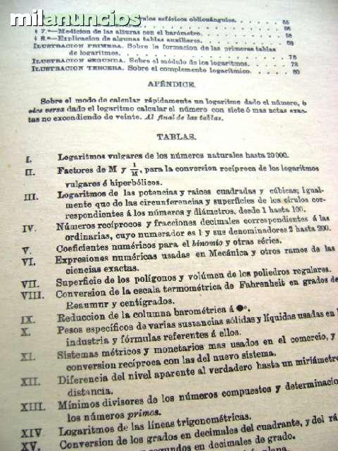 TABLAS DE LOS LOGARITMOS VULGARES 1958 T - foto 6