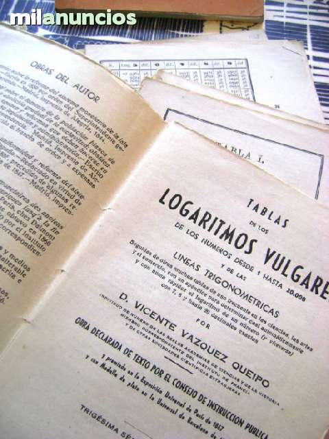 TABLAS DE LOS LOGARITMOS VULGARES 1958 T - foto 7