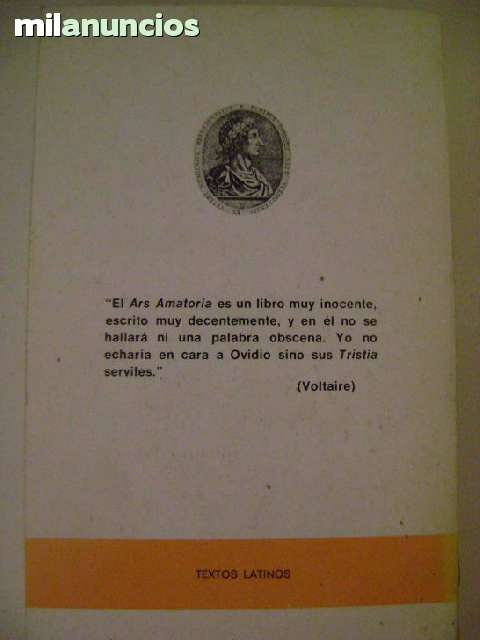 OVIDIO:  ARS AMATORIA Y REMEDIA AMORIS - foto 2