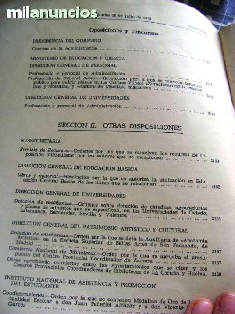 BOLETÍN OFICIAL MEC 1976 MINISTERIO EDUC - foto 3