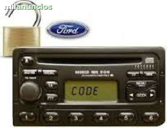 Llaves /& Código reproductor de plata Ford 6006E Estéreo Ford Puma 6 Disc Changer Radio