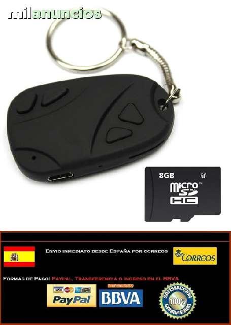 LLAVERO CAMARA ESPÍA - MICRO SD 8GB