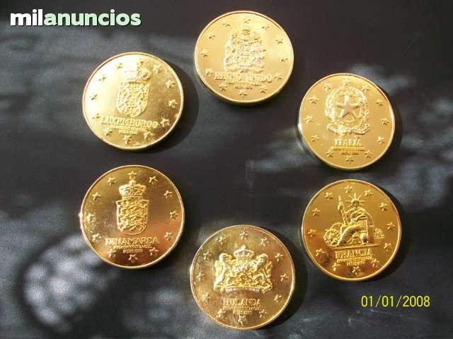 Colection De 6 Monedas En Bronce Macizo