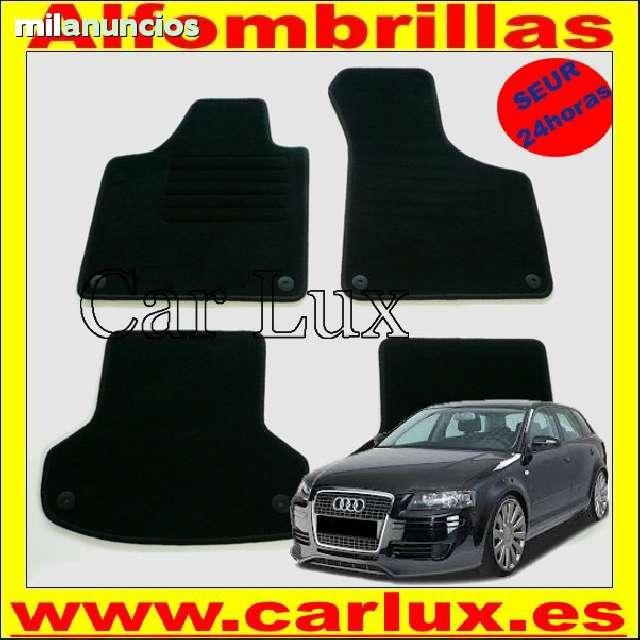 OPEL Agila 11 en negro y ribete azul coche tapetes