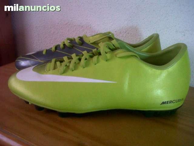 Zapatillas fútbol tacos Nike Mercurial verde de segunda mano