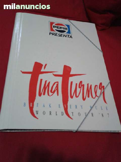 Carpeta Tour Tina Turner Año 87