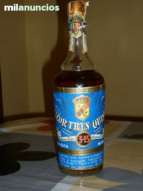 Botella Licor 3-15 De Los Años1965-1970