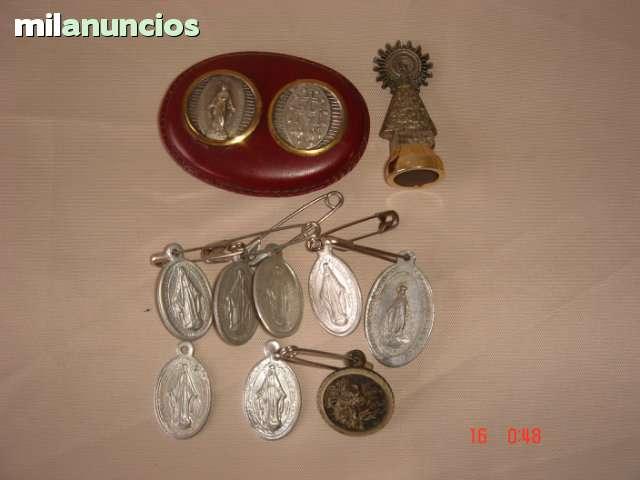 Medallas-Imanes Virgen Milagrosa Y Pilar
