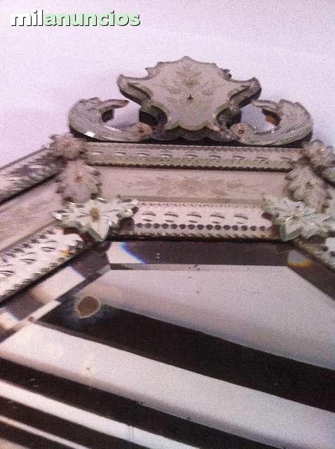 Mil anuncios com espejo veneciano de murano muy antiguo - Espejo veneciano antiguo ...