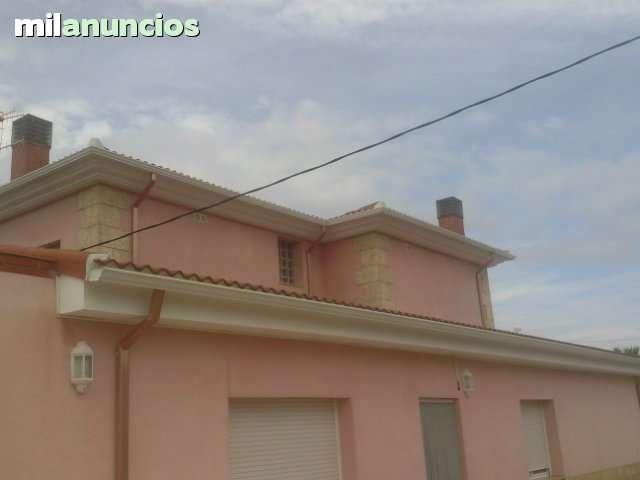 CANALES Y BAJANTES PLUVIALES DE ALUMINIO