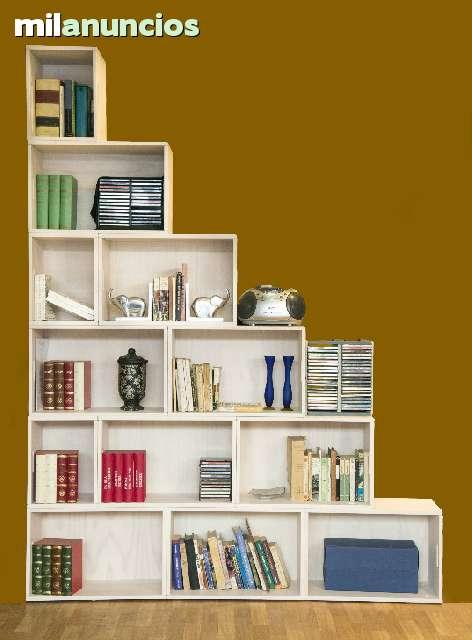 Mil anuncios com estanterias modulares de madera maciza - Estanterias modulares de madera ...