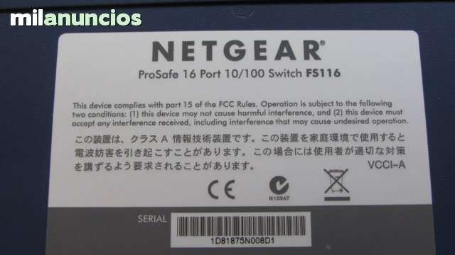NETGEAR PROSAFE 16 PORT 10/100 FS116 - foto 7