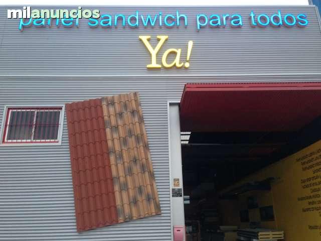 Panel Sandwich Imitación Teja Panelya