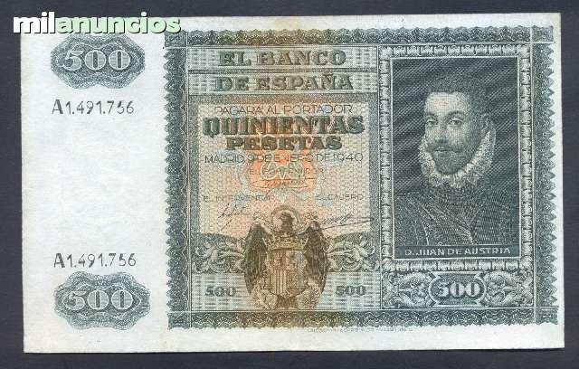 500 Pesetas Del 1940 Ebc Juan De Austri