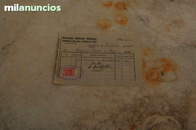 Fact. Cascara De Almendra 1947Con Timbre