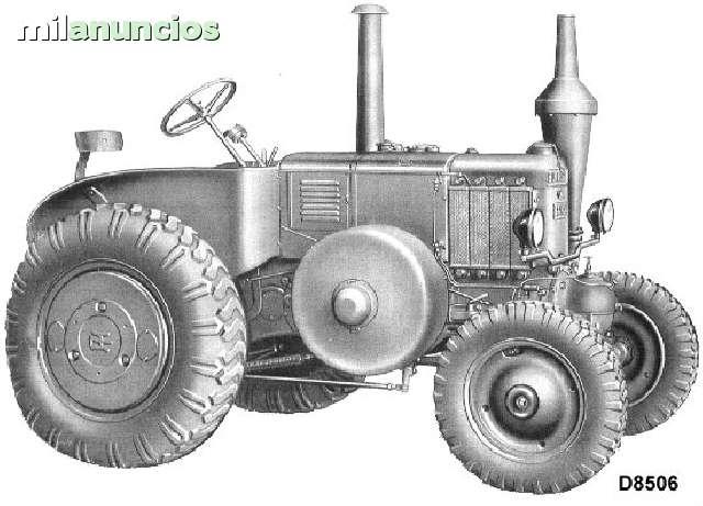 TRACTOR LANZ LAND HR7 D85 D95 ANTIGUO