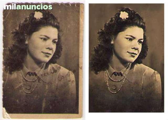 RESTAURACIÓN,  RETOQUE Y MONTAJE DE FOTOS - foto 2