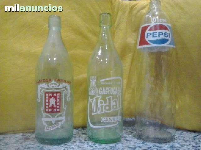 Botellas Antiguas : Escudo,Vidal Y Pepsi