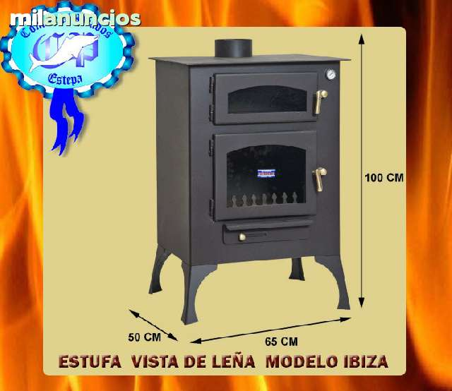 ESTUFA VISTA LEÑA IBIZA R-51451