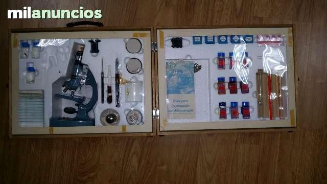 MICROSCOPIO SCOPE 50X900X CON MALETÍN - foto 1