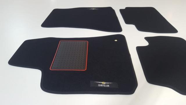 2001-2007 Alfombrillas de Goma Compatible con Chrysler Voyager IV versi/ón 7 pasajeros Regalo + Limpiador de Plasticos