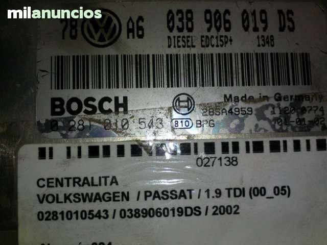 CENTRALITA VW PASSAT 038906019