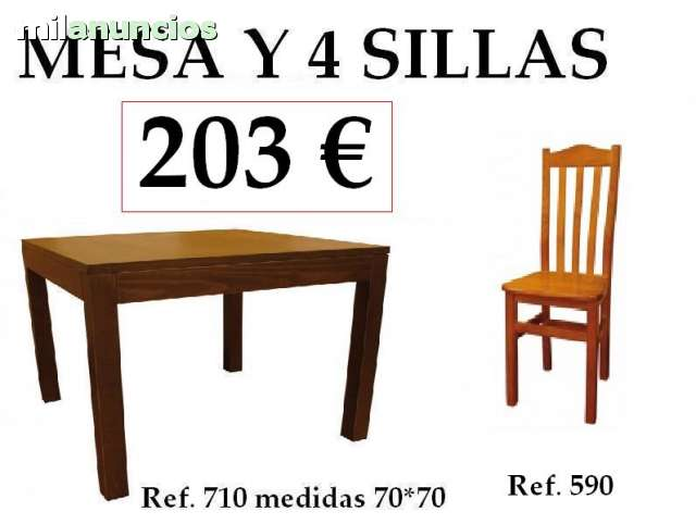 SILLAS Y MESA BAR