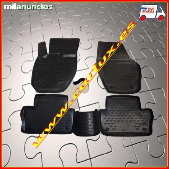 Frogum Alfombrillas Negro Coches de Goma 4-Pieza un Ajuste Alfa Romeo Mito de 2008