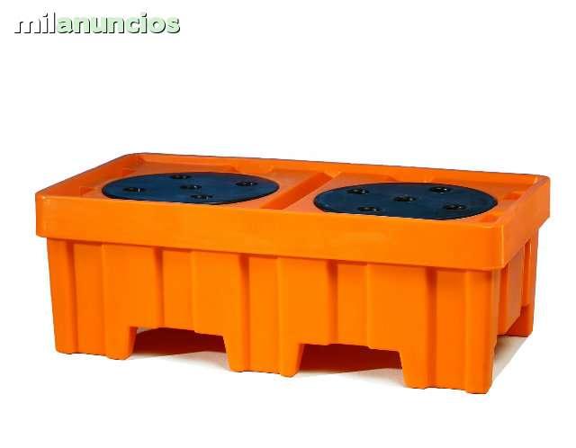 CUBETA PLASTICA ANTI-DERRAME 2 BIDONES