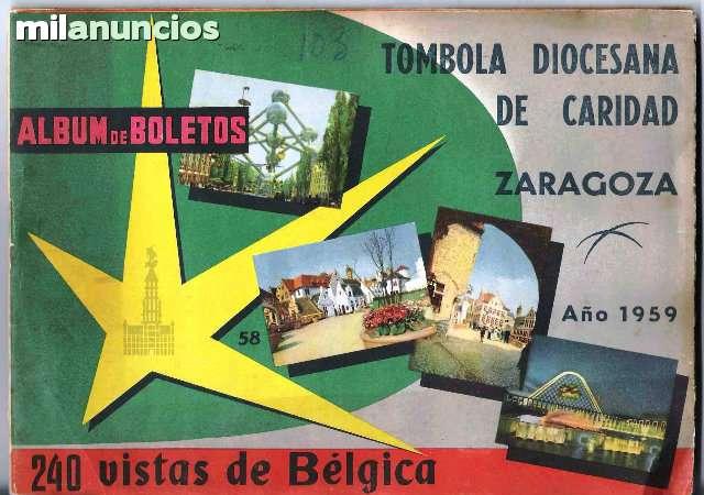 ALBUM TOMBOLA DE CARIDAD ZARAGOZA
