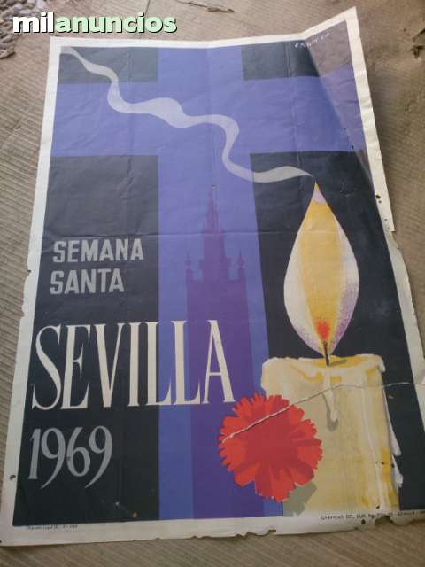 Cartel Semana Santa De Sevilla 1969