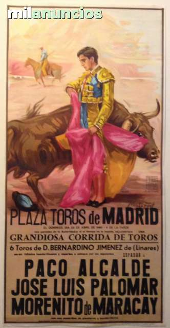 Cartel De Toros En  Madrid.22/4/1990.