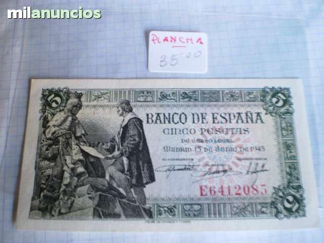 5 Pesetas  Del15 De  Julio 1945**