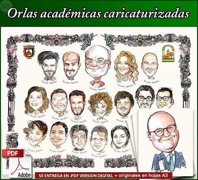 ORLAS ACADÉMICAS CARICATURIZADAS - foto 1