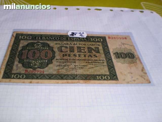 Billete De 100 Pesetas 1936**