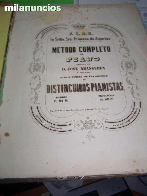 METODO COMPLETO DE PIANO AÑO 1855