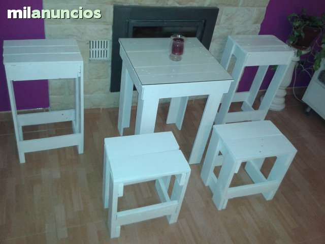 Mesa taburetes palets segunda mano - Muebles en crudo sevilla ...