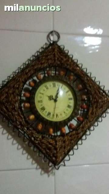 Reloj De Pared Forja Y Cuerda