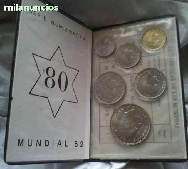 CARTERA MONEDAS MUNDIAL 82 ESTRELLA 80
